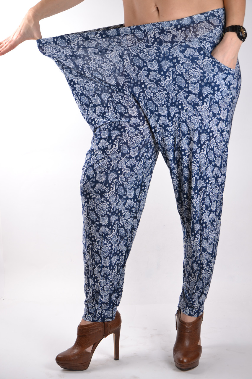 Летние брюки галифе БАТАЛЫ р50-56 (Арт. A401)