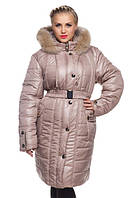 Стеганое женское пальто на зиму.