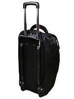 Женская дорожная сумка на колесах нейлон 22838-24in black