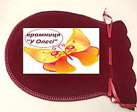 Мішечок для подарунку бузкового кольору бархат 13*15 см
