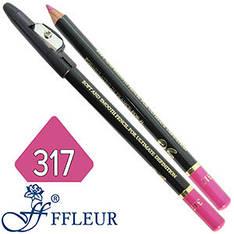 Ffleur - Карандаш ML-300 для губ дерево с точилкой Тон №317 creamy lilac перламутр