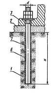 Болты фундаментные прямые М12-М48 (тип 5)