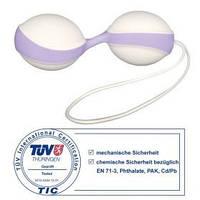 Вагинальные шарики Amor Gym Balls Duo бело-фиолетовые