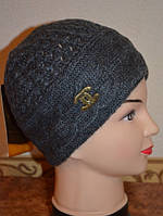 Шапка женская Косы Chanel серая 3535-2-g