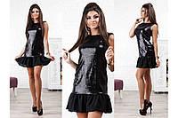 Красивое платье из пайеток и шифона