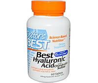 Doctor's BESTГиалуроновая кислотаХондроитин Hyaluronic Acid with Chondroitin Sulfate (60 caps)
