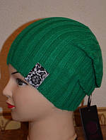 Шапка женская Спорт зелёная 3584-g