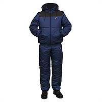 Мужской теплый спортивный костюм на синтепоне синий пр-во Украина F11517