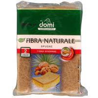 Губки кухонні DOMI натуральная фибра 2 шт (7212 DI)