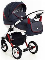 Детская коляска универсальная 2 в 1 Adamex Barletta Rainbow Collection Red Blue (Адамекс Барлетта)