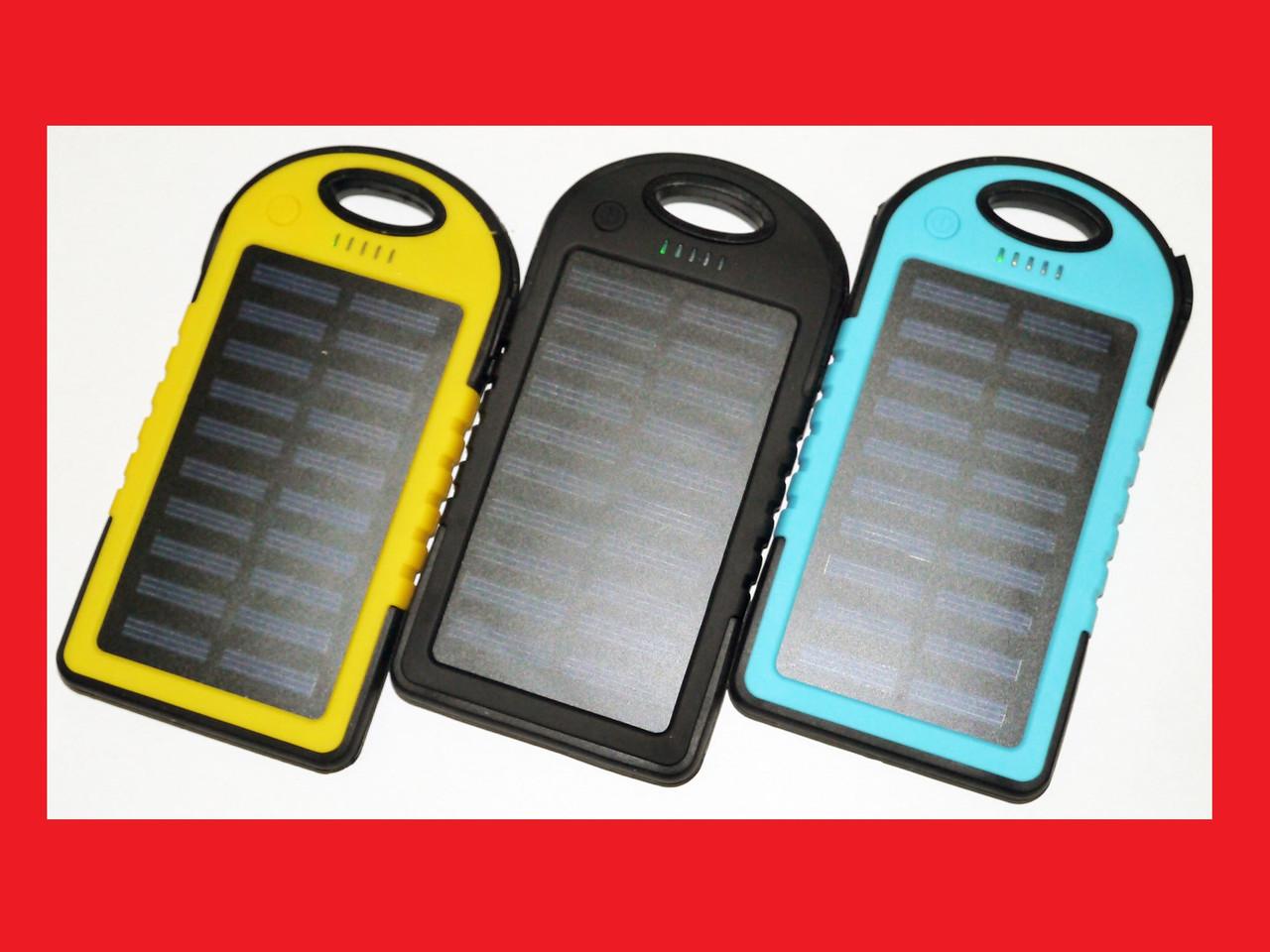 Solar Power Bank Портативная батарея 20000 mAh + LED