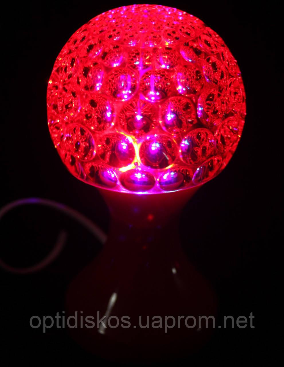 Светодиодная Диско-лампа-ночник, RHD-48 (Красный шар)