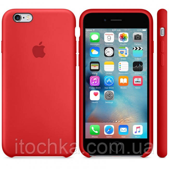 Apple iPhone 6S Silicone Case Red MKY32