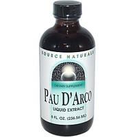 Жидкая Кора муравьиного дерева Пау Дарко экстракт 236 мл для иммунитета противовирусное  Source Naturals