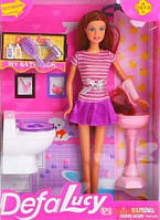 """Кукла с мебелью для ванной """"Defa Lucy"""" 8200"""