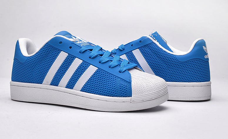 Кроссовки женские Adidas Superstar Stan Smith (light blue/white) - 02w
