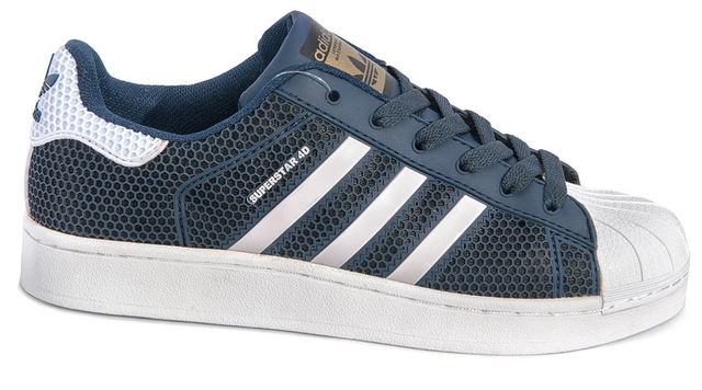 Кроссовки женские Adidas Superstar Stan Smith GL (dark blue/white) - 14 оригинал