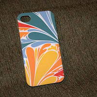 Чехол для iPhone 4,4s,  ЛЕПЕСТКИ  пластик гладкий