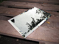 Зеркальная плитка зеленая, бронза, графит 300*300 фацет 15мм. зеркальная плитка с фацетом.плитка цена.