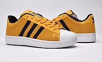 Кроссовки женские Adidas Superstar Stan Smith (yellow/black) - 03w