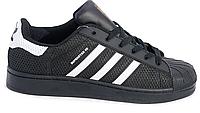 Кроссовки женские Adidas Superstar Stan Smith GL (black/white) - 10w