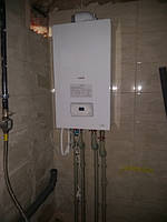 дом 240 м2 в г.Полтава.Газовый одноконтурный котел Протерм Рысь 30 кВт совмещенный с бойлером косвенного нагрева Drazice 160 л.