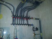дом 240 м2 в г.Полтава Процесс установки коллекторной группы Kermi для теплого пола 2-го этажа.
