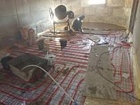 дом 240 м2 в г.Полтава Процесс монатажа теплого пола на первом и втором этаже испанской трубой из сшитого полиэтилена Roda.