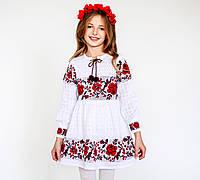 Платье для девочки из натурального льна