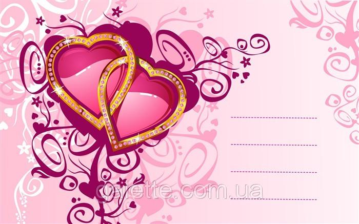 Вафельная картинка Валентинка A4 Галетте -1262