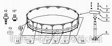 Intex 28252 - круглый каркасный бассейн Metal Frame 549x122 см, фото 3