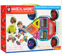 """Конструктор для детей 46 деталей магнитный """"Транспорт"""" 7046"""