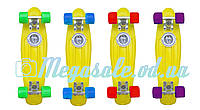 Скейт Penny Board (Пенни борд фиш) Fishskateboards: желтый, до 80кг