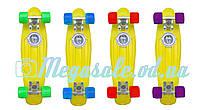 Скейт Penny Board (Пенні борд фіш) Fishskateboards: жовтий, до 80кг