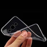 Силиконовый чехол для Samsung Galaxy A8 прозрачный ультратонкий