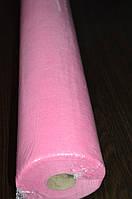 Простынь одноразовая 20гр/м 0,8 х 100м Panni Mlada розовый