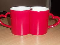 Чашка сублимационная Хамелеон Latte парная глянцевая Красная