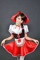 Костюм Красная Шапочка для девочки 5-11 лет. Детский новогодний маскарадный карнавальный костюм