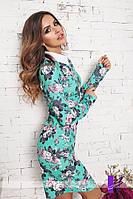 Платье с воротником женское,длинный рукав ,осеннее