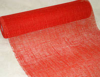 Декоративная сетка-мешковина красная 90 см, фото 1