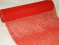 Декоративная сетка-мешковина красная 90 см
