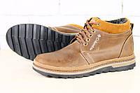 Ботинки мужские зимние Columbia на меху из натурального нубука, цвет коричневый
