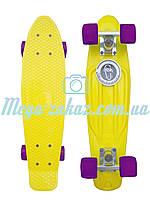 Скейтборд/скейт Penny Board (Пенні борд фіш) Fishskateboards: жовтий, фіолетовий, до 80кг