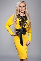 Платье женское мод№210-2,размер 52 желтое