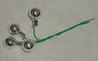Новогодние стеклянные шарики 1,5 см на проволоке 4 шт
