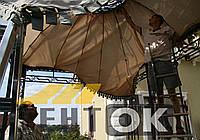 Демонтаж старых изношенных тентов, навесов, штор