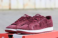 Мужские кроссовки Nike Main Draw SL/ кроссовки мужские Найк Мейн Дров весна-осень, натуральная замша, бордо