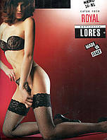 Чулки сетка с силиконом  Royal от Lores