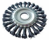 Щетка дисковая плетеная - 125мм (WERK)