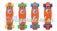 Скейтборд/скейт Penny Board (Пенни борд фиш) Fishskateboards: оражевый, до 80кг